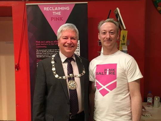 Provost Mike Robbins and PS Trustee Richard McArthur